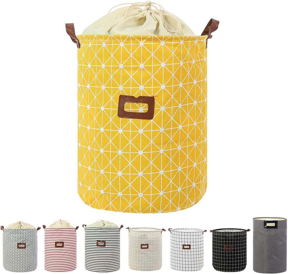 Clothes Laundry Hamper Storage Bin Large Collapsible Storage Basket Kids Canvas Laundry Basket for Home Bedroom Nursery Room (PATTERN-04)