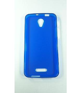 Funda de gel TPU carcasa protectora silicona para Alcatel Pop 4 Plus Azul