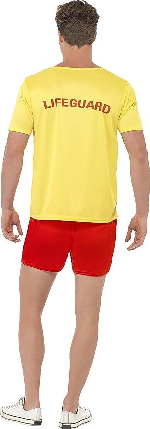 32d7546f62 Amazon.com: Adult Baywatch Lifeguard Costume: Clothing