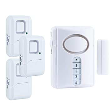 GE Personal Security Alarm Kit, Includes Deluxe Door Alarm with Keypad Activation and Window/Door Alarms, Easy Installation, DIY Home Protection, ...