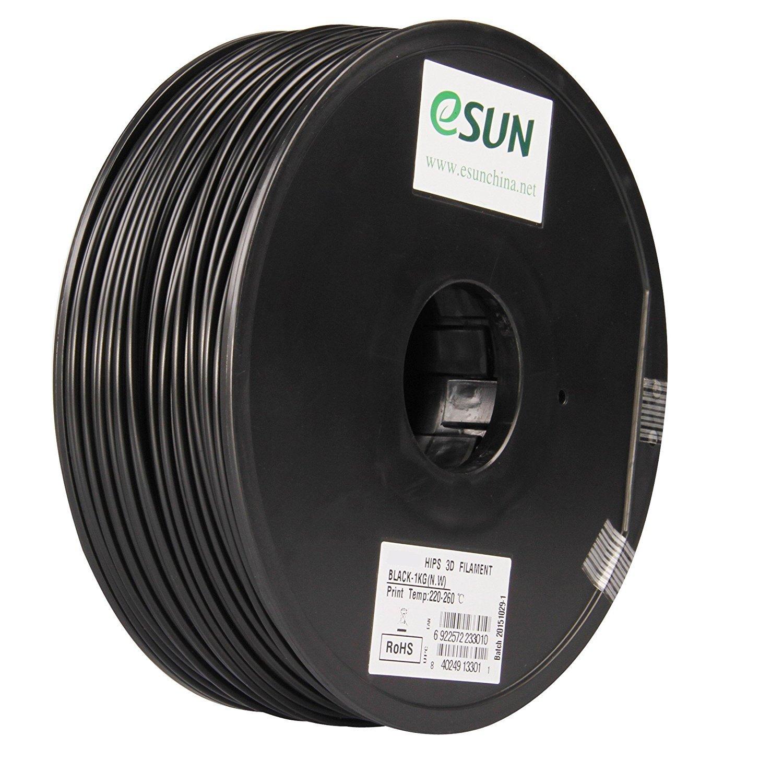 Color printing csun - Amazon Com Esun 1 75mm Black 1kg 2 21lb Hips 3d Printering Filament For 3d Printer Up Reprap Flash Forge Makerbot Vallemen Industrial Scientific