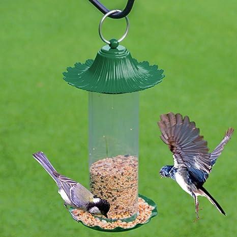 LFF.FF Alimentador De Pájaros Al Aire Libre Guía De Aves Jardín Balcón Producto Al Aire Libre Recolector De Comida De Aves Comedero para Pájaros Alimentando El Comedero Metal,Metallic: Amazon.es: Deportes y aire