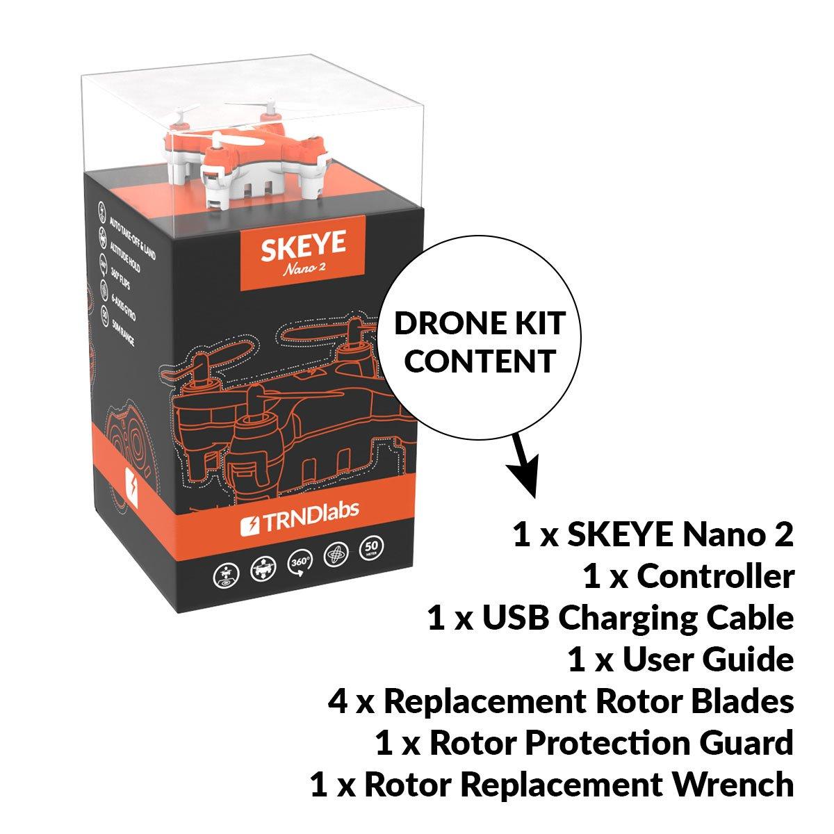 SKEYE Nano 2 Drone Con Luces Led - Piruetas Acrobáticas - Despegue ...