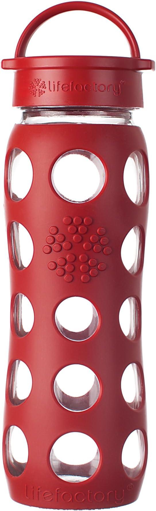 Lifefactory 13573 - Botella de Cristal (650 ml), Color Rojo ...