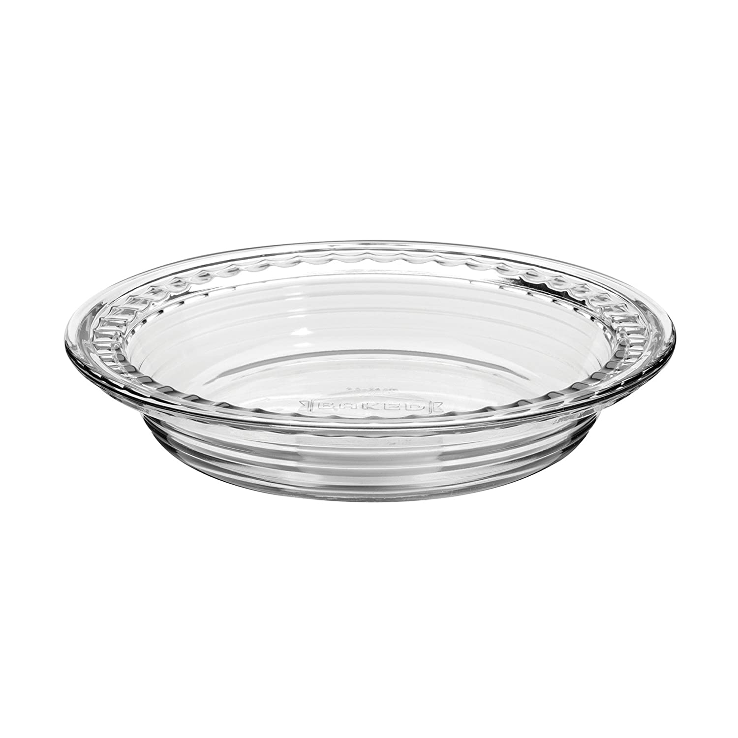 Anchor Hocking 79097 9.5-Inch Baked by Fire-King Deep Pie Plate with Fluted Edge