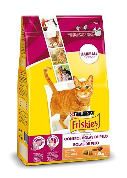 Purina Friskies Control Bolas de Pelo Pienso para Gato Adulto Pollo y Verduras 6 x 1