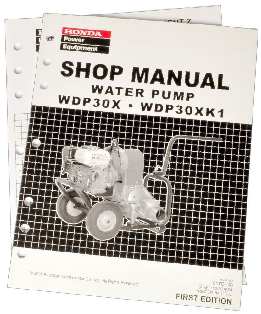 Honda WDP30 WDP30X Water Pump Service Repair Shop Manual