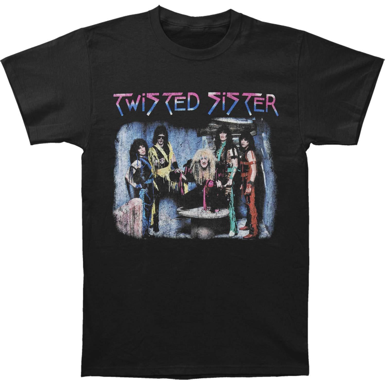 Twisted Sister American Heavy Metal Band I Wanna Rock F B Adult T Shirt Tee