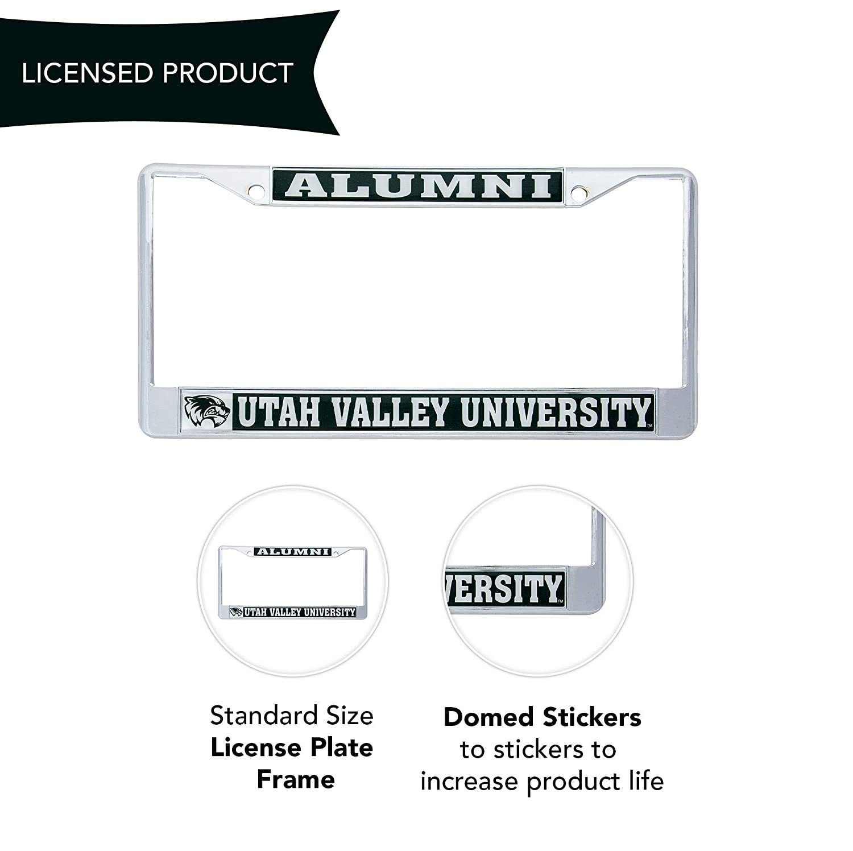 Alumni Desert Cactus Utah Valley University Wolverines Metal License Plate Frame for Front Back of Car Officially Licensed
