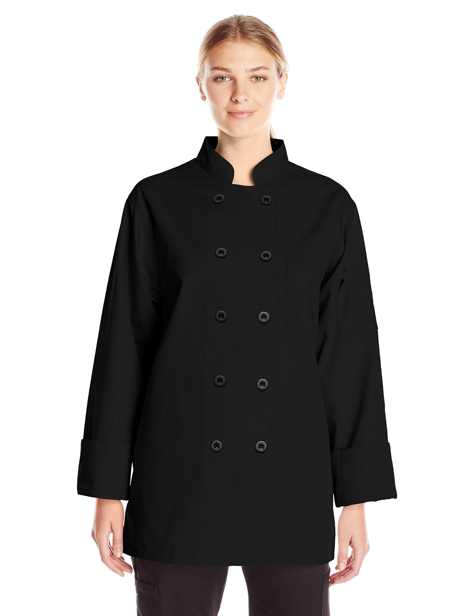 Dickies Chef Women's Classic Coat, Black, Small