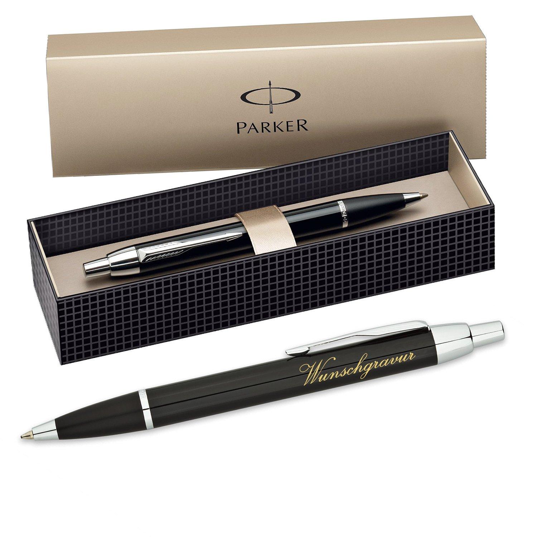 Grabado Parker de IM – Bolígrafo con caja de Parker regalo (color: negro) 335985