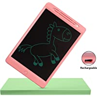 Proffisy LCD Writing Tablet 2019 Upgraded Screen 11.5 Inch Rechargeable Type Electronic Writing Board Doodle and Scribble Board Magnetic MeMO Notes Comes for Kids and Adults (11.5 inch Charging - Pink)