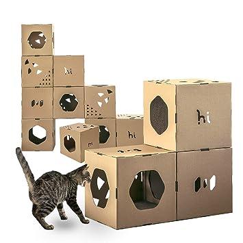 Amazon.com: Cubos de túnel para gatos y árbol modular para ...