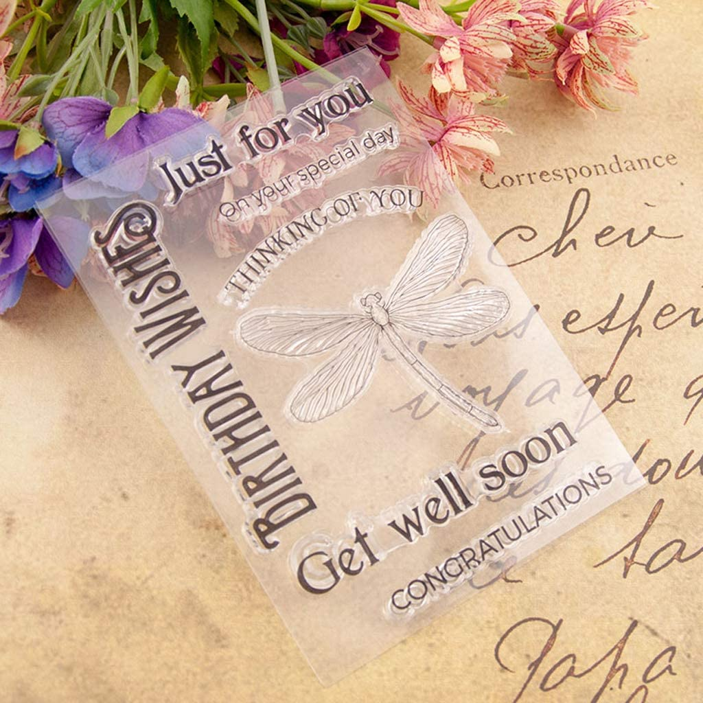 KANGneei Clear Stamp Vintage Clear Silicone Rubber Seal Stamp DIY Album Scrapbooking Photo Card Decor
