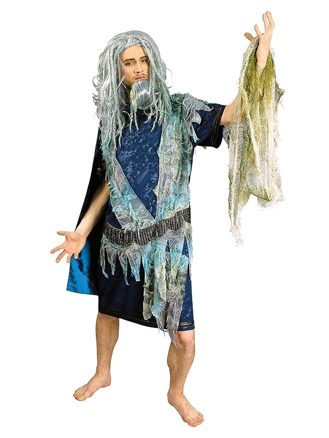 Poseidon Mar Dios Disfraz Azul Gris: Amazon.es: Juguetes y juegos