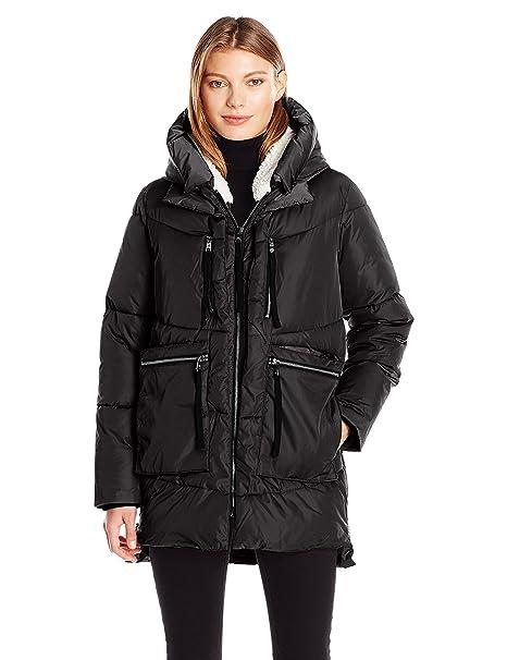 the latest 11992 ab968 Steve Madden Women's Puffer Parka Jacket