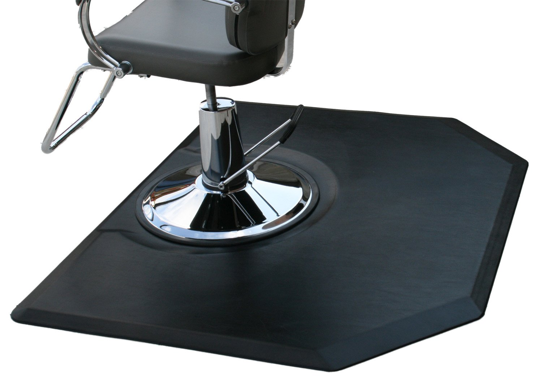 Rhino Mats CC45DH Comfort Craft Deluxe Salon Hexagon Mat, 4' Width x 5' Length x 3/4'' Thickness, Black
