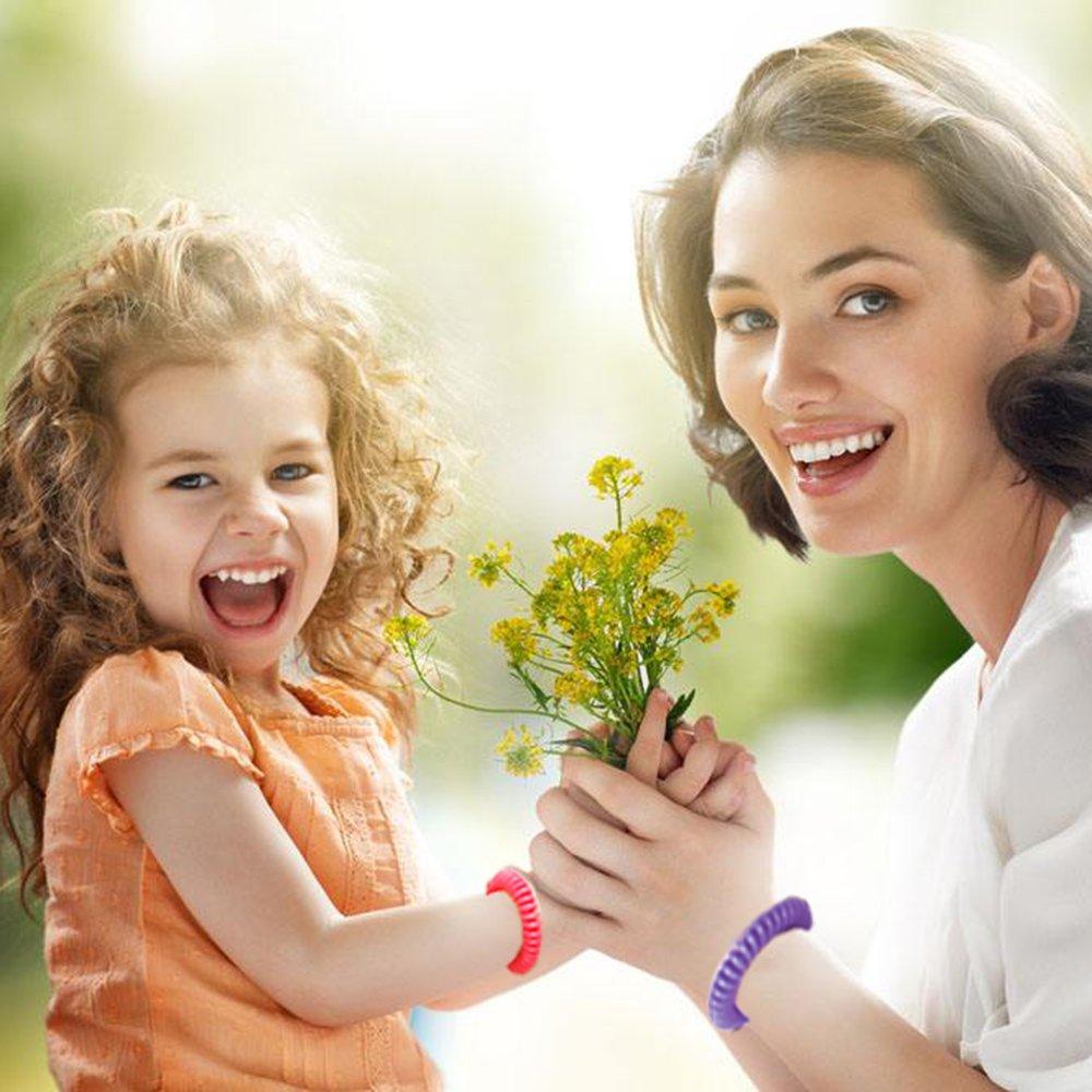 ARINO Set di 12 Braccialetti Antizanzare Braccialetto in Plastica Zanzara Insetti Repellenti per Protezione di 15 Giorni Naturali Senza Deet per Bambini Adulti Impermeabile