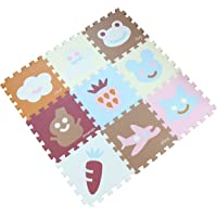Zoeshare 9 Piece Kids Extra Thick Puzzle Play Mat with Foam