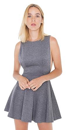 9ab8ceff3cec38 Amazon.com  American Apparel Women s Ponte Sleeveless Skater Dress  Clothing