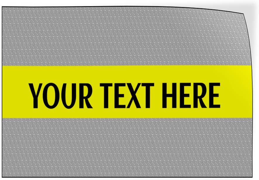 Custom Door Decals Vinyl Stickers Multiple Sizes Your Text Here Grey Yellow Business Your Text Here Outdoor Luggage /& Bumper Stickers for Cars Blue 24X16Inches Set of 5
