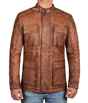 Brown Leather Jacket Men - Genuine Lambskin Mens Leather Jackets at ... 44d1bff71