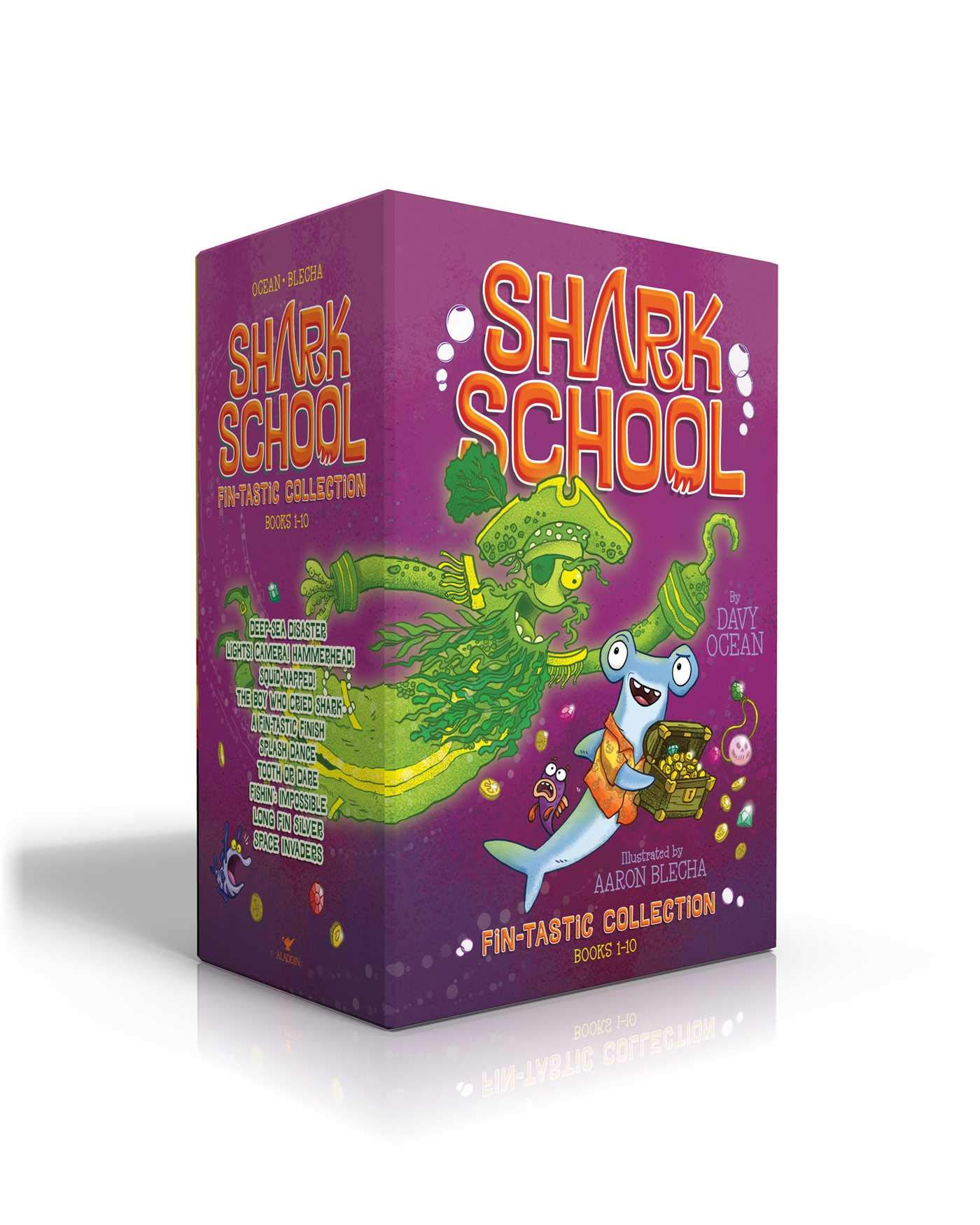 Shark School Fin-tastic Collection Books 1-10: Deep-Sea Disaster; Lights! Camera! Hammerhead!; Squid-napped!; The Boy Who Cried Shark; A Fin-tastic ... Impossible; Long Fin Silver; Space Invaders