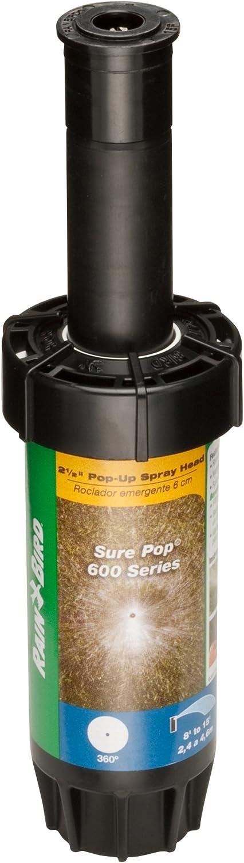 Rain Bird SP25F Sure 600 Series Sprinkler, 360° Full Circle Pattern, 8' -15' Spray Distance, 2.5