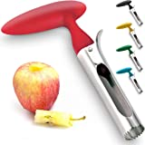 Professional Apple Corer Stainless Steel - Easy to Use Apple Corer Remover, Works on Pears, Bell Peppers, Fuji…