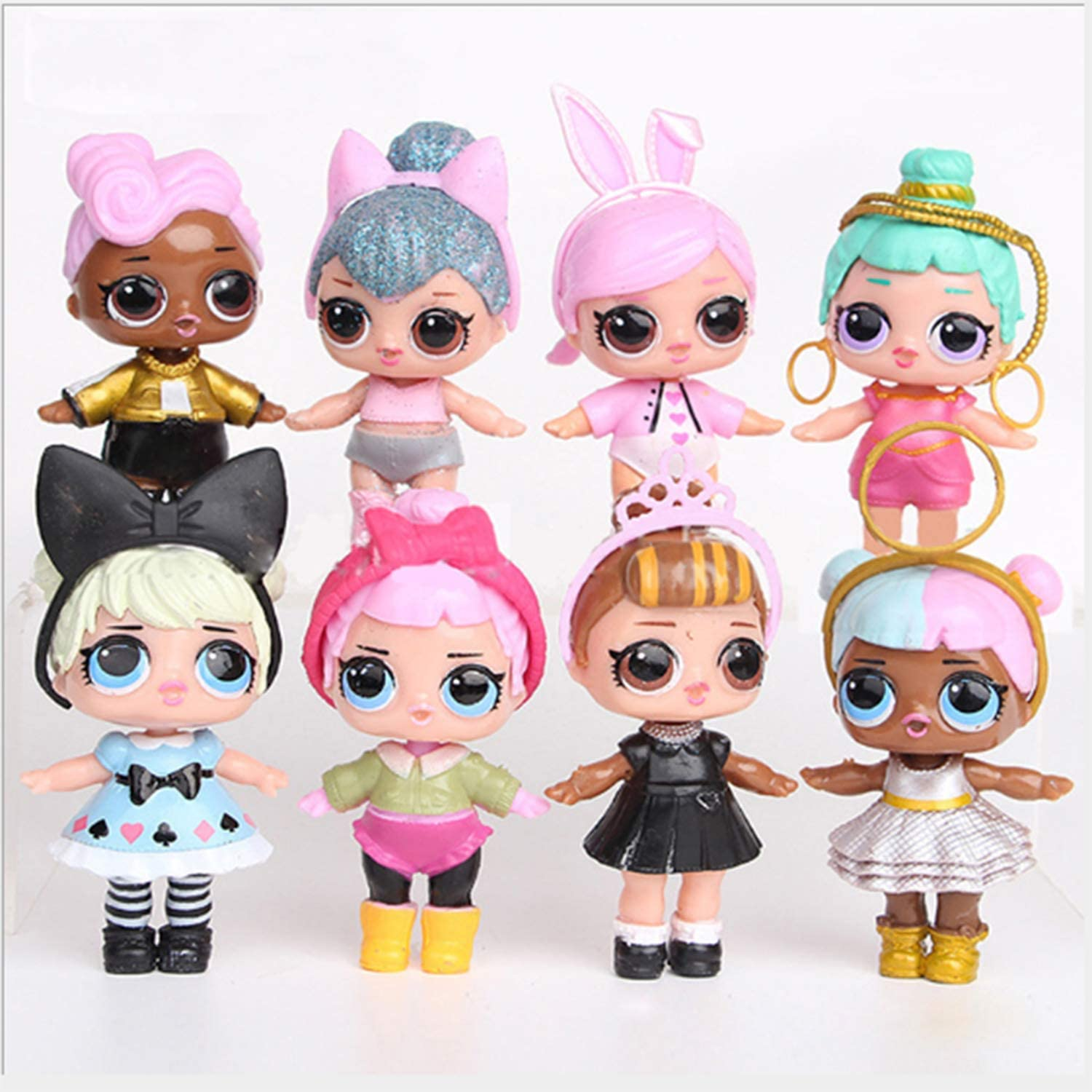 L.O. L S U R P R I S E! 8 Pieces LOL Dolls Toys for Girls Surprise Baby Doll Toys Kids Birthday 8cm Hobbies Action Toy Figures Best Gift