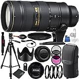 Nikon AF-S NIKKOR 70-200mm f/2.8G ED VR II Lens 11PC Accessory Bundle – For D7200, D7100, D3400, D3300, D3200, D3000, D5500, D5300, D5100, D5000, D750, D600, D90, D80, D70s, D70, D50, D40
