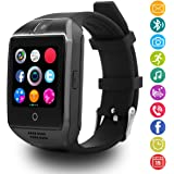 Smartwatch Android, LATEC Bluetooth Smart Watch supporta SIM card e fotocamera, orologio da polso intelligente sportivo con pedometro Monitor del sonno Chiama SMS Facebook Whatsapp Nota