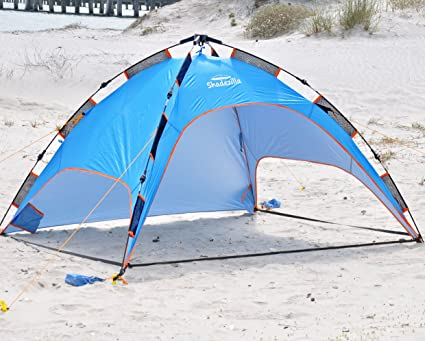 Shadezilla Easy Pop up Beach Tent - UPF 100 w/ Removable Floor (Blue)  sc 1 st  Amazon.com & Amazon.com: Shadezilla Easy Pop up Beach Tent - UPF 100 w ...