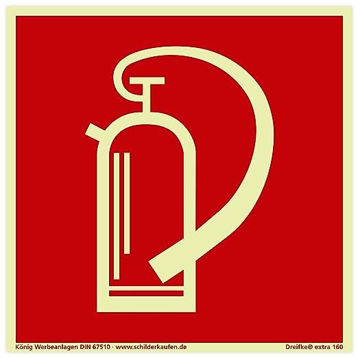 Cartel extintor Después de BGV A8 F05 | PVC nachleuchtend ...