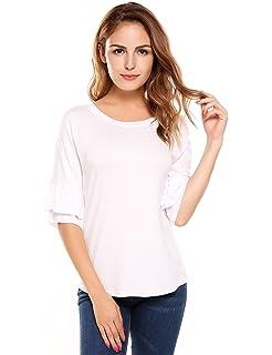 7a5ec603396bcb Jones New York Women's Plus Size Short Sleeve Pleated Back Scoop ...
