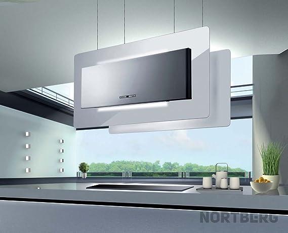 Nortberg Elegant - Campana extractora (acero inoxidable, 90 cm de ancho): Amazon.es: Grandes electrodomésticos