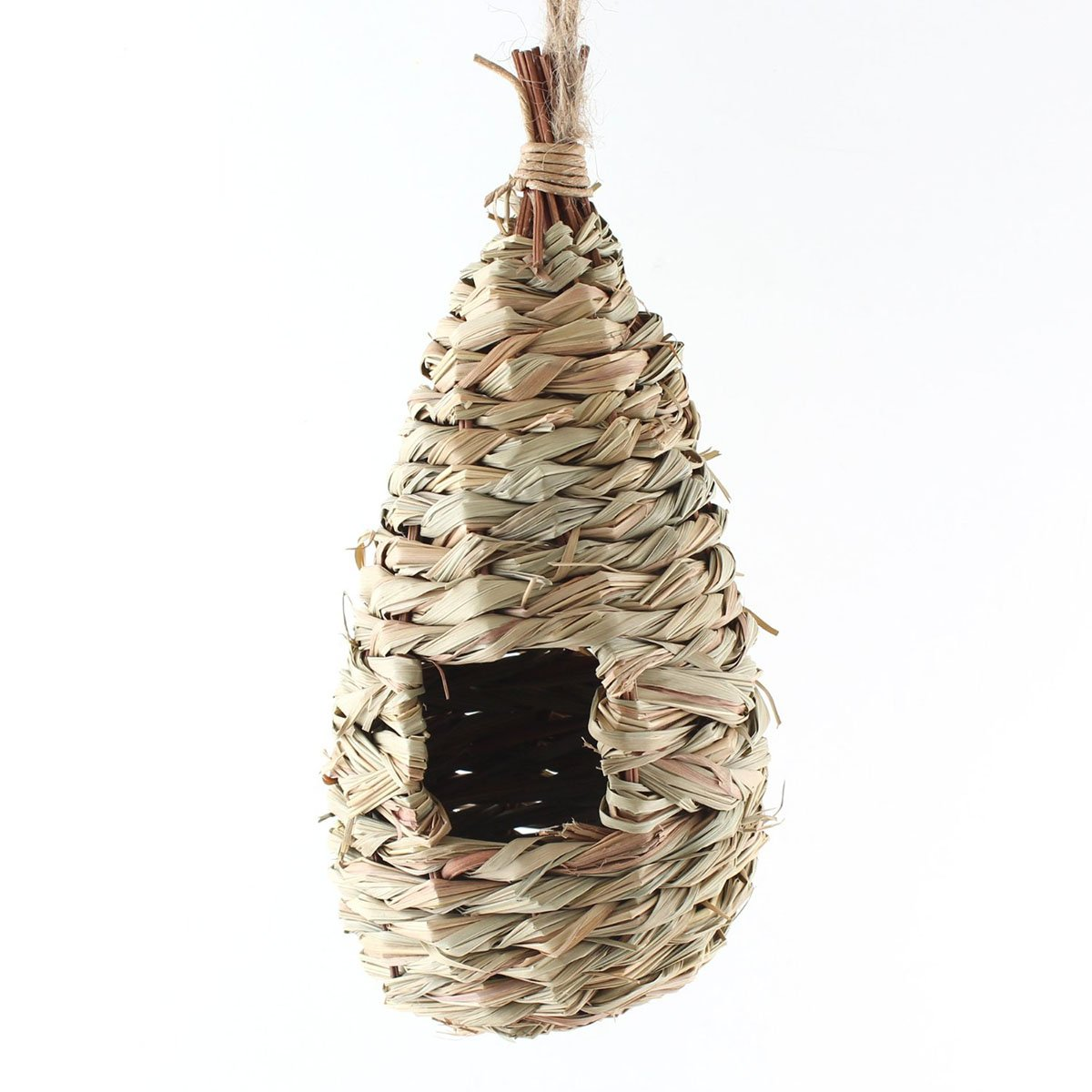 UEETEK Natural Woven Grass Hanging Birdhouse Nest