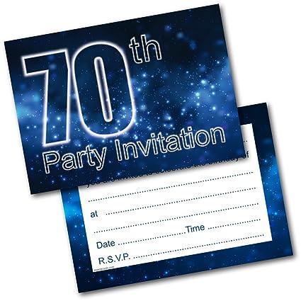 Doodlecards Invitaciones Para Fiesta De 70 Cumpleaños 20