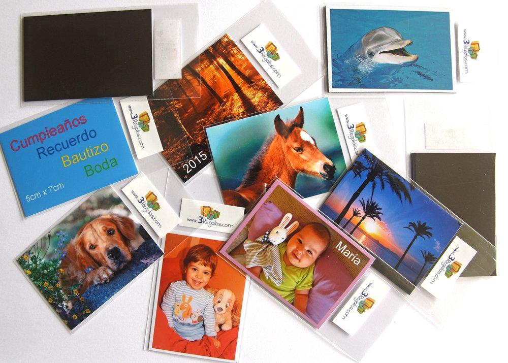 Imanes de nevera personalizados con sus fotos 40 unidades: Amazon ...