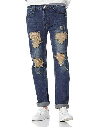 Demon&Hunter 802 Straight Series Hombre Pantalones Vaqueros Recto Jeans