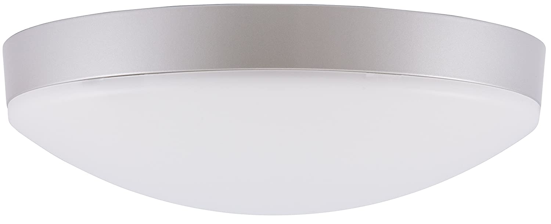 2700k-silber inolight iWD 28 P LED Deckenleuchte (A+, 20 Watt, 2700K Warmweiß, 1900 Lumen, Potentiometer, 28cm, 50.000 Std.) silber weiß