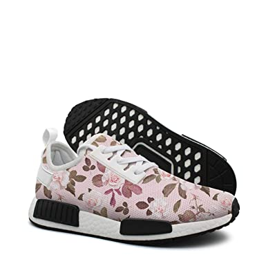 3cb7ba3b3 Amazon.com  Beautiful Pink Rose Flower womans running shoes nmd tan ...