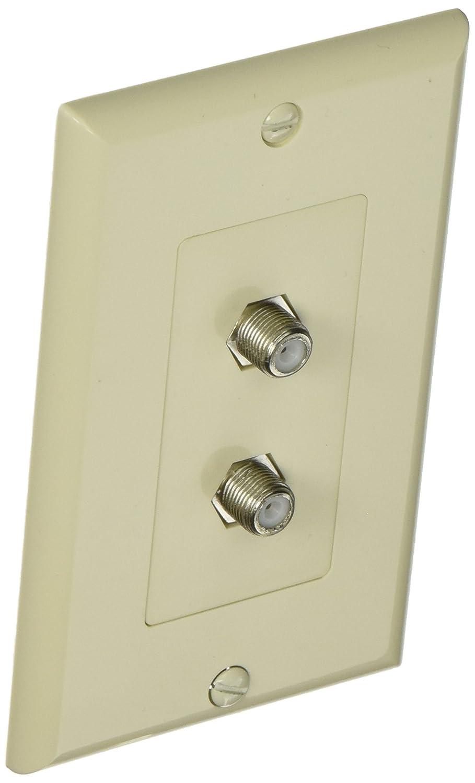 モリス製品85223デコレーターデュプレックスケーブルテレビジャック2ピース中尉アーモンド B005GDG9WE