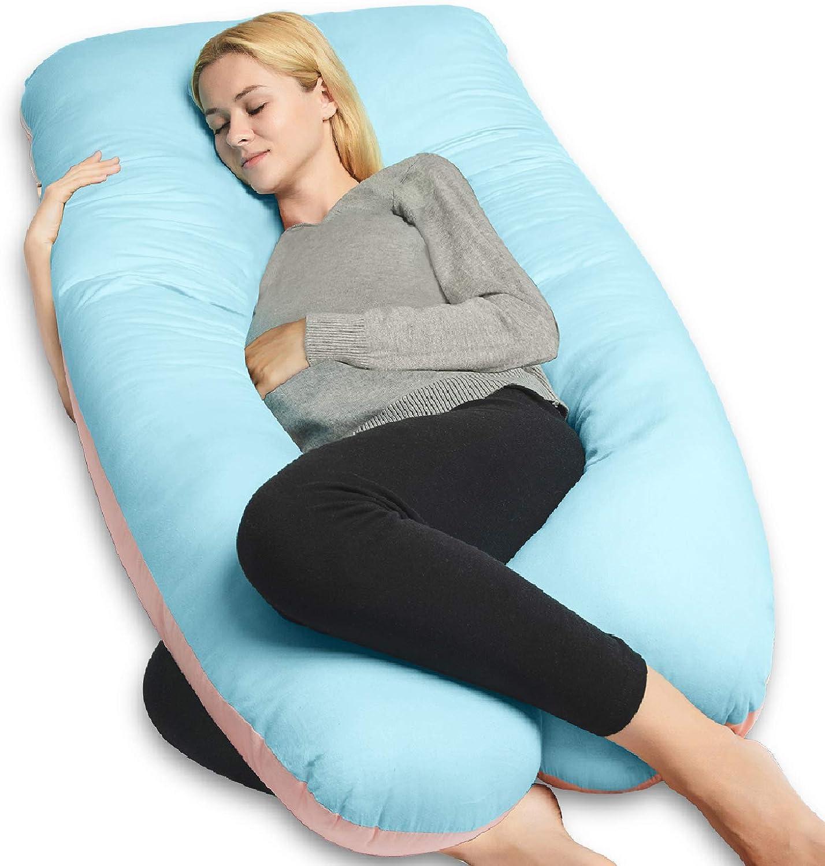 U Shaped Pregnancy Body Pillow with Zipper Removable Cove Meiz Pregnancy Pillow