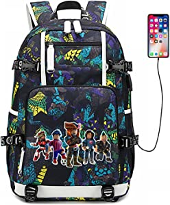 Multifunctional and convenient backpack, casual fashion bag, casual daily-use laptop backpack with USB charging port(Multiplayer-Green)