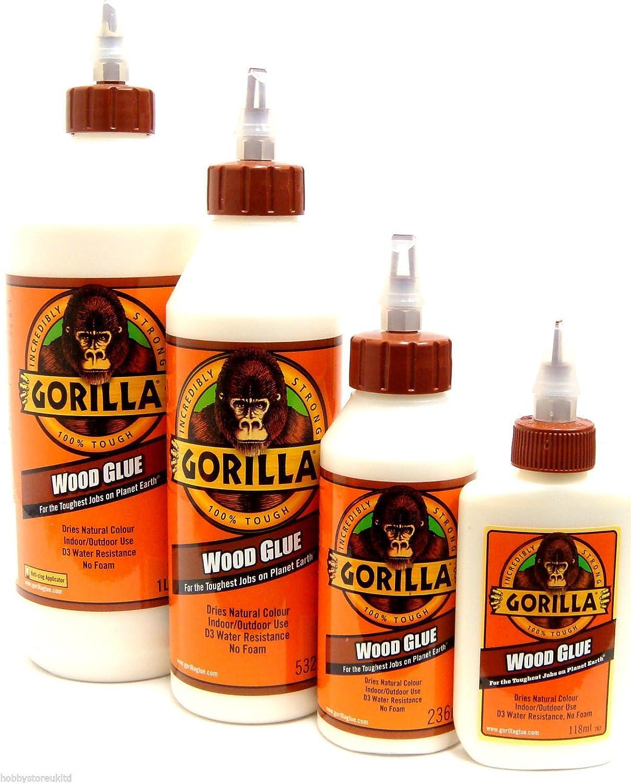 Gorilla Wood Glue Wood Adhesive Glue Weatherproof Super Strong Quick Dry New (1l Gorilla Wood Glue)