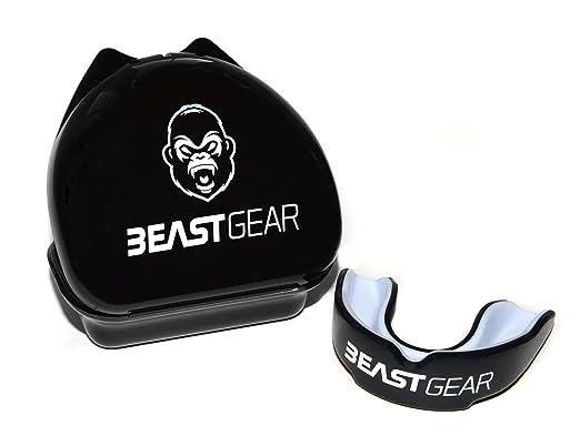 2 opinioni per Paradenti Beast Gear / Paragengive / Scudo in gomma Unisex- per boxe, MMA,