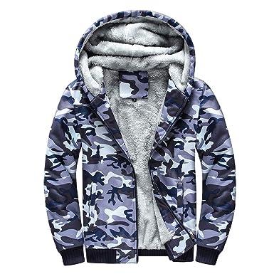Hanomes Herren Jacket,Herren Winter Warme Camouflage