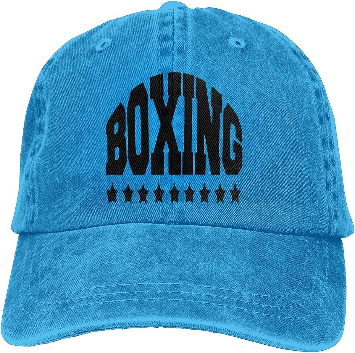 PMGM-C Boxing Unisex Trendy Jeans Outdoor Sports Hat Adjustable Baseball Cap