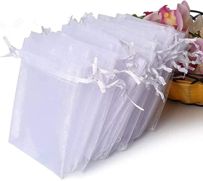 """4x6/"""" Sheer ORGANZA BAGS with Pull String Drawstring Pouches Wedding Party Favors"""